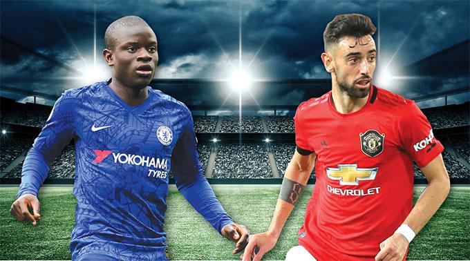 Sự nguy hiểm của Bruno Fernandes (phải) là điều các hậu vệ của Chelsea phải đặc biệt dè chừng