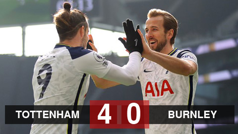 Kết quả Tottenham 4-0 Burnley: ''Bộ tứ nguyên tử''...