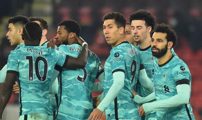 Liverpool đã chấm dứt mạch 4 trận toàn thua bằng việc đánh bại Sheffield United