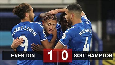 Kết quả Everton 1-0 Southampton: The Toffees thổi lửa vào gáy Liverpool