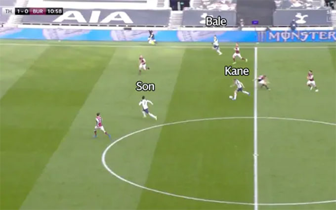 Bale created a 3 to 2 stop for Tottenham