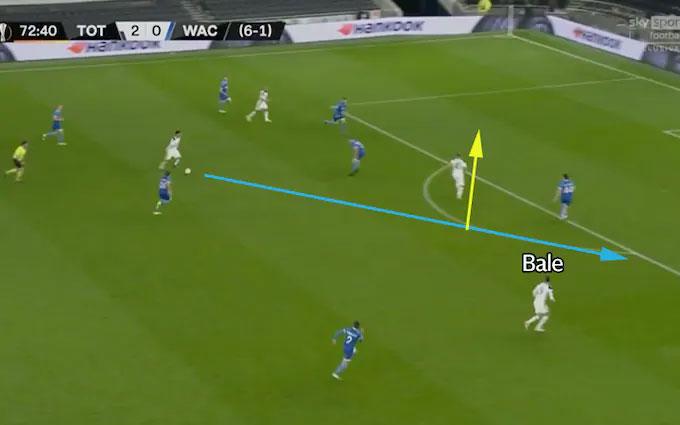 Bale hưởng lợi từ cách di chuyển của các đồng đội