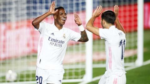 Vinicius cán mốc 100 trận cho Real