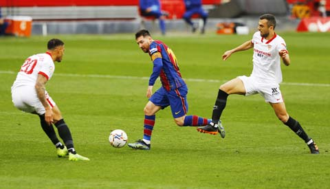 Điểm tựa sân nhà có thể là không đủ để Messi và đồng đội lật ngược thế cờ trước Sevilla