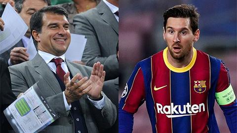 Laporta: 'Nếu tôi không trúng cử, Messi sẽ rời Barca'