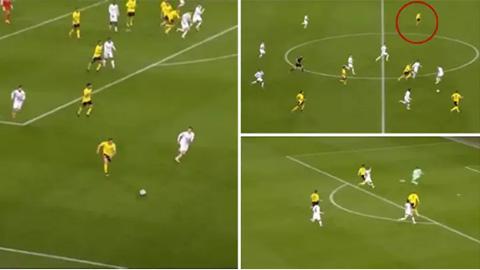 Haaland, Sancho và Reus tạo nên bàn thắng siêu tốc độ cho Dortmund