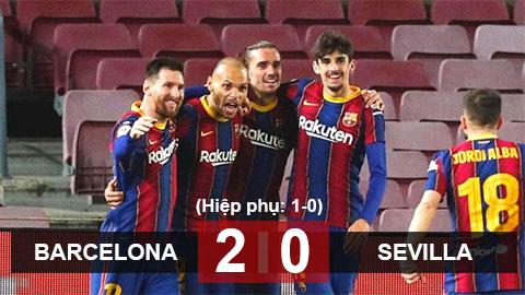 Barca 3-0 Sevilla (chung cuộc 3-2): Ngược dòng ngoạn mục