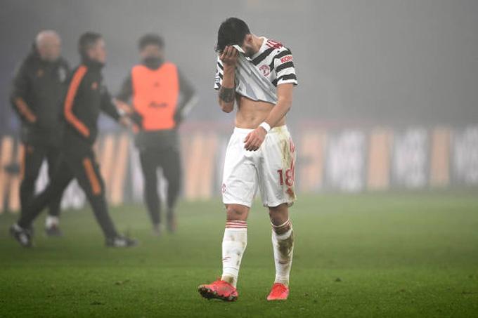 Fernandes không để lại nhiều dấu ấn ở trận Palace vs MU