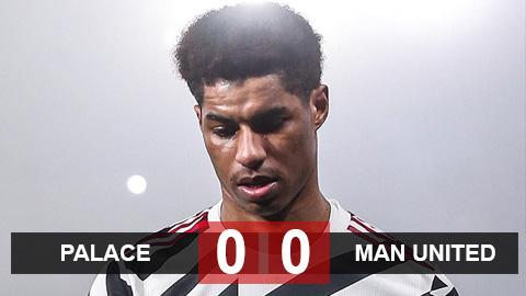 Kết quả Palace 0-0 MU: Quỷ đỏ bị Man City bỏ xa 14 điểm trước derby Manchester