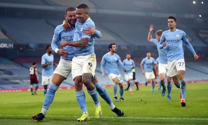 Man City đang sở hữu mạch 21 trận thắng liên tiếp