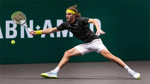 Stefanos Tsitsipas tái đấu Andrey Rublev ở bán kết Rotterdam Open 2021