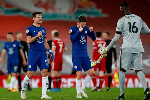 Chelsea vươn lên Top 4 trên BXH Premier League sau chiến thắng ấn tượng trên sân của Liverpool