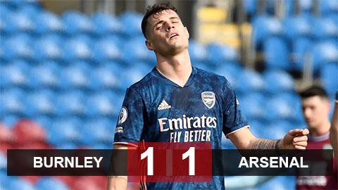 Kết quả Burnley 1-1 Arsenal: Thảm họa Xhaka