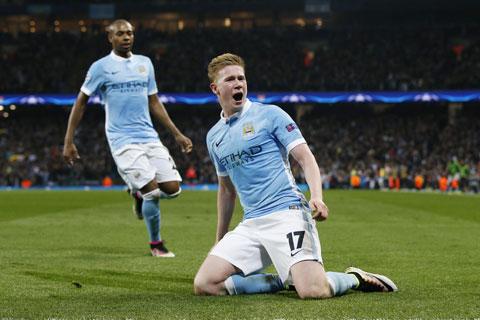 De Bruyne đã in dấu giày vào 14 bàn thắng của Man City trên mọi đấu trường mùa này