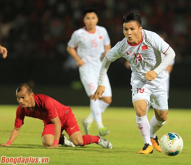 ĐT Việt Nam đã đánh bại Indonesia với tỷ số 3-1 tại Bali ở lượt đi