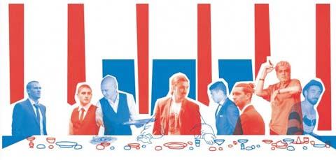 """Tranh biếm họa về """"bữa tối lịch sử"""" của các cầu thủ PSG"""