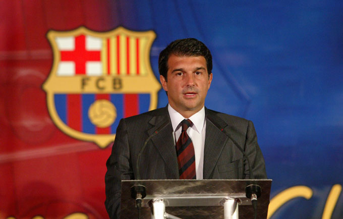 Laporta từng là chủ tịch của Barca từ 2003 đến 2010