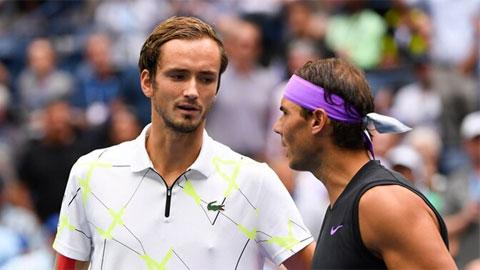 Nadal sẽ mất vị trí số hai thế giới vào tay Medvedev