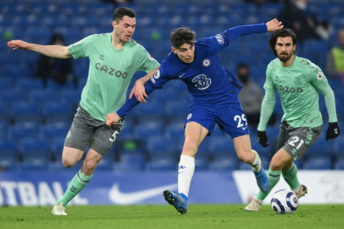 Havertz chơi ấn tượng trước Everton