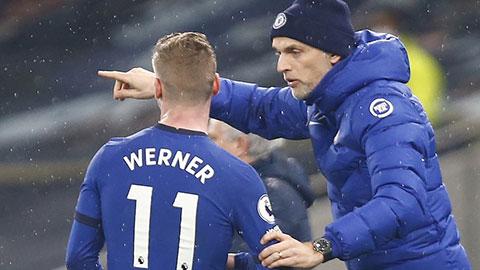 Tuchel mắng Werner bằng tiếng Đức ngay trên sân