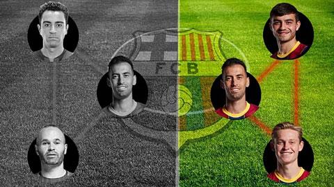 Barca đang dần kích hoạt bộ 3 nguyên tử mới nơi hàng tiền vệ
