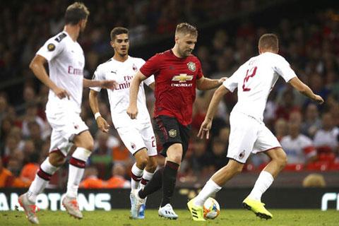 Milan (áo trắng) đủ sức cầm chân một Man United vốn chơi khá thất thường