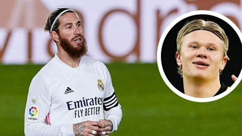Ramos chọn Haaland thay vì Mbappe cho Real