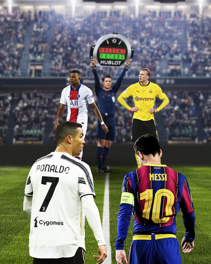 Mbappe và Haaland chính là những đối thủ nguy hiểm nhất với Messi và Ronaldo