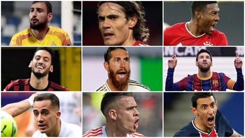 Messi, Ramos và Cavani và những ngôi sao miễn phí giá trị nhất ở kỳ chuyển nhượng hè 2021