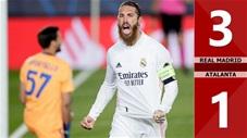 Real Madrid vs Atalanta: 3-1 (chung cuộc: 4-1), Benzema, Ramos lên tiếng