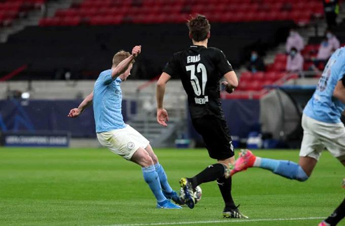 De Bruyne nã đại bác mở tỷ số cho Man City
