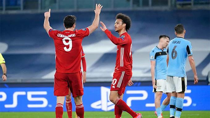 Bayern đã đặt một chân vào vòng tứ kết sau chiến thắng tưng bừng ở lượt đi