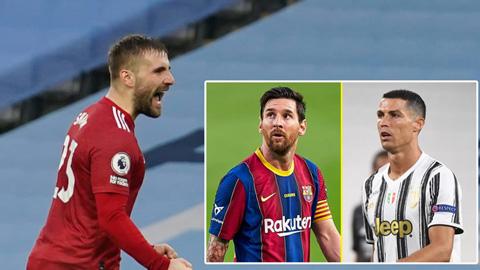 Luke Shaw vượt mặt Messi và Ronaldo về 1 chỉ số
