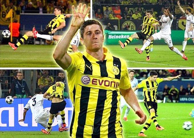 Lewandowski giúp Dortmund của Klopp đánh bại Real