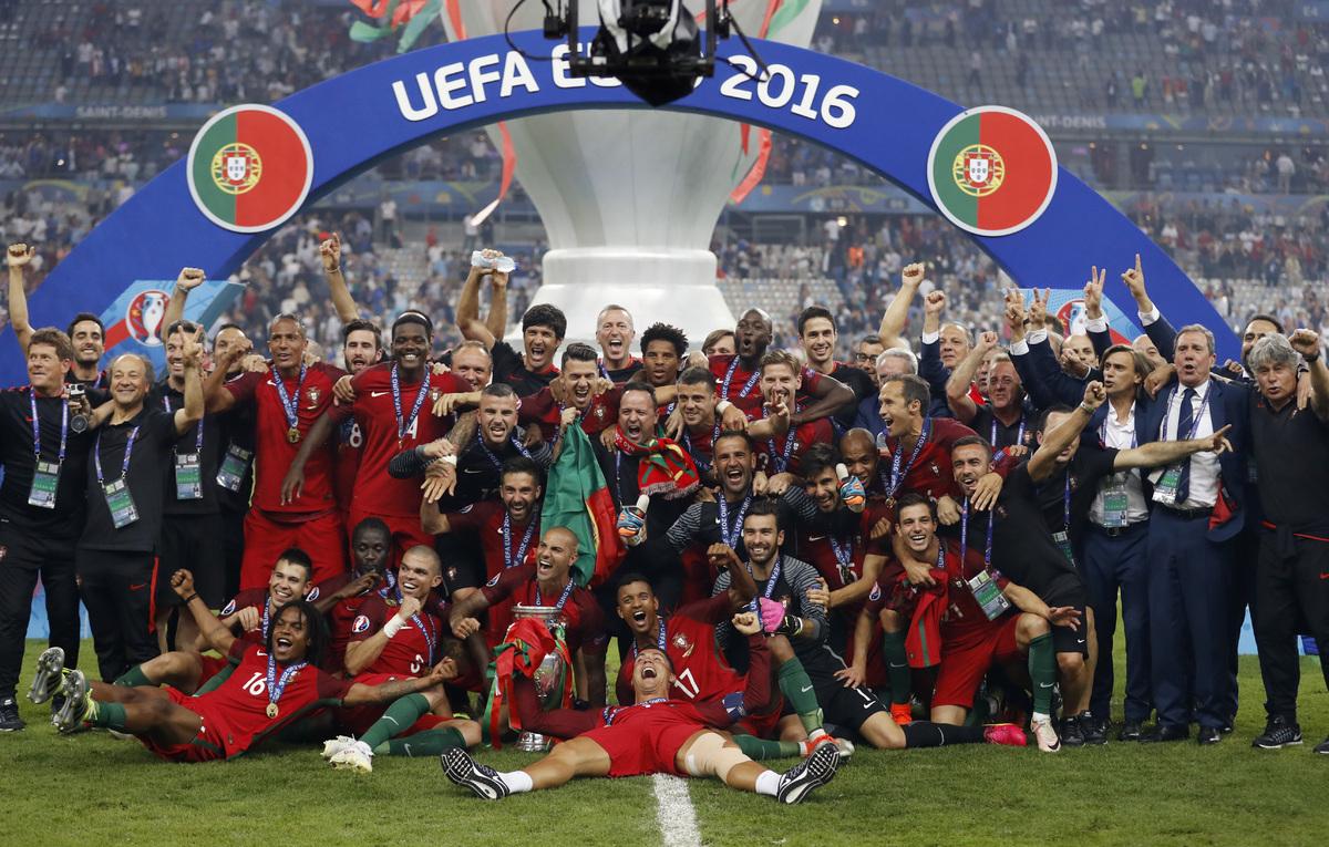 ĐT Bồ Đào Nha của Cristiano Ronaldo đang là nhà đương kim vô địch EURO