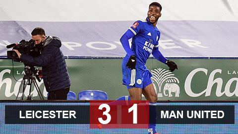Leicester 3-1 MU: Ngày thăng hoa của Iheanacho