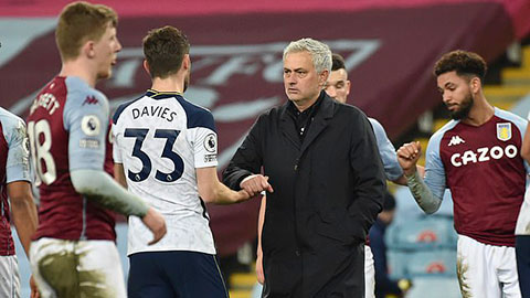 Mourinho muốn cầu thủ Tottenham phải biết xấu hổ dù thắng Aston Villa