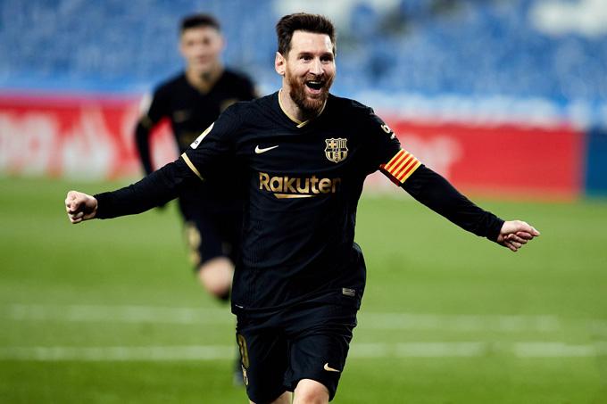 Messi tỏa sáng rực rỡ ở trận Sociedad vs Barca với 2 bàn thắng cùng 1 kiến tạo