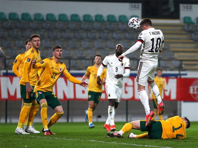 Hazard chơi cực hay ở trận Bỉ vs Xứ Wales