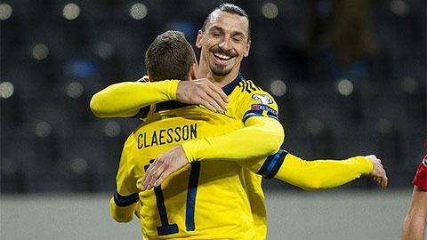 Zlatan Ibrahimovic đi vào lịch sử trong lần tái xuất ĐT Thụy Điển sau 5 năm