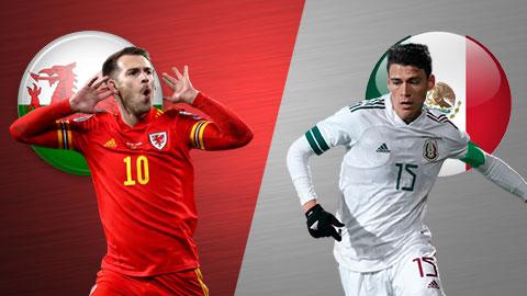 3h00 ngày 28/3: Xứ Wales vs Mexico