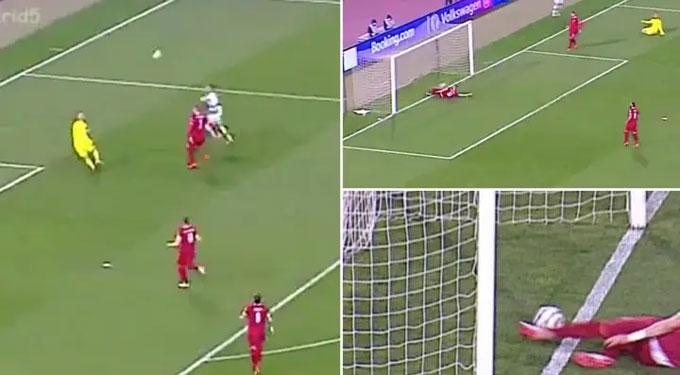Tình huống bàn thắng của Ronaldo bị từ chối