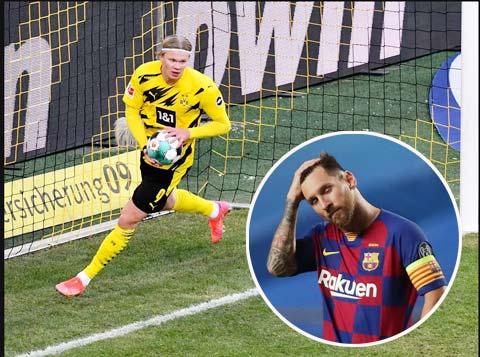 Erling Haaland sẽ đến Barca nếu Messi quyết ra đi vào mùa Hè này