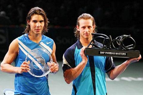 Nalbandian (phải) từng đánh bại  cả Nadal