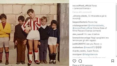 Rocco Siffredi và bức ảnh ông mặc áo đấu của Vicenza khi còn nhỏ