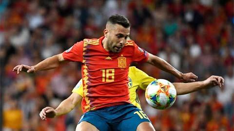Jordi Alba ghi dấu ấn sau 568 ngày trở lại tuyển Tây Ban Nha