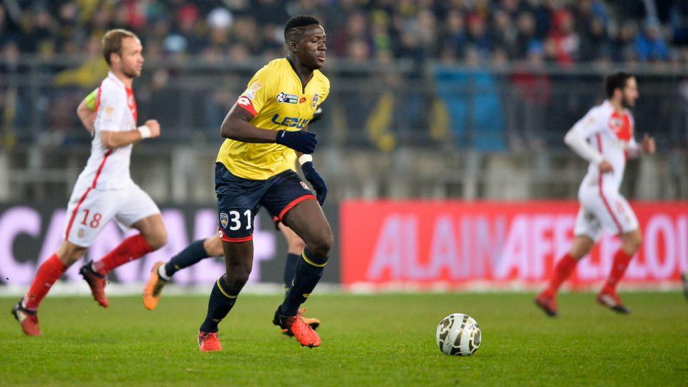 Konate trong màu áo Sochaux ở giải Ligue 2
