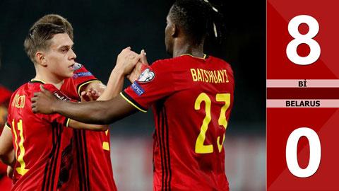 Bỉ vs Belarus: 8-0 (Bảng E vòng loại World Cup 2022)