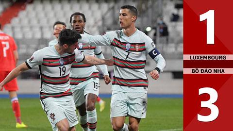 Luxembourg vs Bồ Đào Nha: 1-3 (Bảng A vòng loại World Cup 2022)