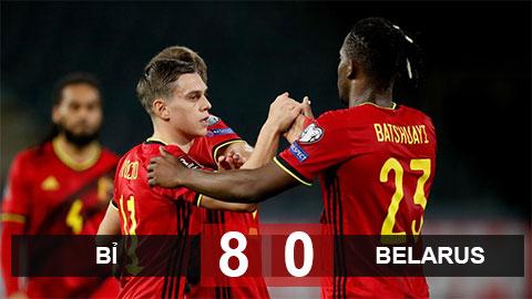 Kết quả Bỉ 8-0 Belarus: Cơn mưa bàn thắng
